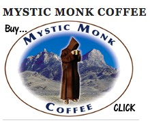 Mystic Monk Coffee Ad