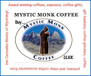 Mystic Monk Coffee Ad 300x250