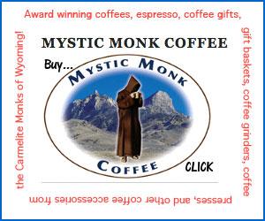 Mystic Monk Coffee Ad 300x250